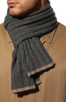 Мужской кашемировый шарф BRUNELLO CUCINELLI серого цвета, арт. M2240819 | Фото 2