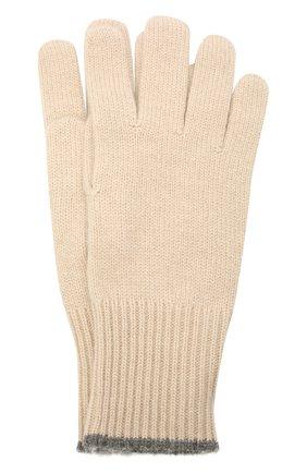 Мужские кашемировые перчатки BRUNELLO CUCINELLI бежевого цвета, арт. M2293118 | Фото 1