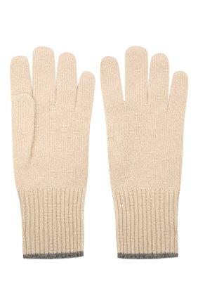Мужские кашемировые перчатки BRUNELLO CUCINELLI бежевого цвета, арт. M2293118 | Фото 2