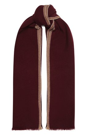 Мужской кашемировый шарф BRUNELLO CUCINELLI бордового цвета, арт. MSC657AG | Фото 1