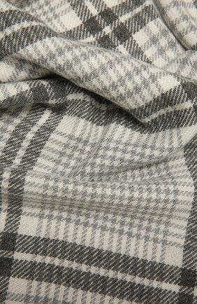 Мужской шарф из шерсти и кашемира BRUNELLO CUCINELLI серого цвета, арт. MSC659AV | Фото 2