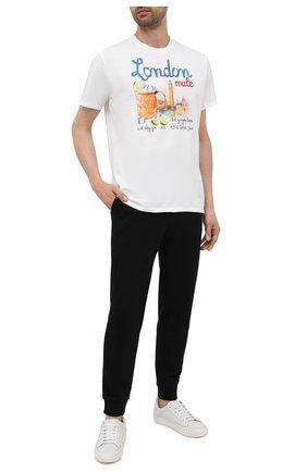 Мужская хлопковая футболка MC2 SAINT BARTH белого цвета, арт. STBM JACK/JACK001 | Фото 2