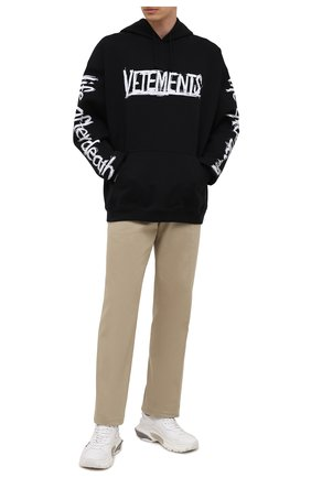 Мужской хлопковое худи VETEMENTS черного цвета, арт. UA52TR910W 1606/M | Фото 2