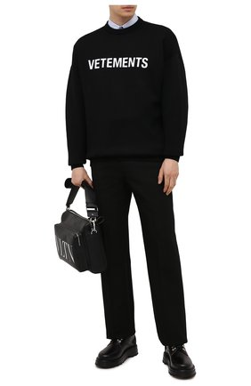 Мужской шерстяной свитер VETEMENTS черного цвета, арт. UA52KN720B 2901/M | Фото 2