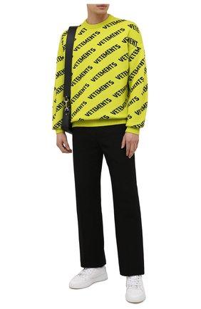 Мужской шерстяной свитер VETEMENTS светло-зеленого цвета, арт. UA52KN600Y 2901/M | Фото 2