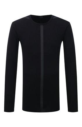 Мужская хлопковый лонгслив ISAAC SELLAM черного цвета, арт. ARRETE STX2-JERSEY H22   Фото 1