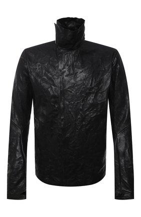 Мужская кожаная куртка ISAAC SELLAM черного цвета, арт. IMPARABLE-CRASSE P0UILLE H22   Фото 1