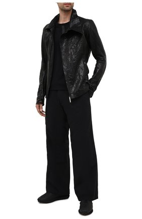 Мужская кожаная куртка ISAAC SELLAM черного цвета, арт. IMPARABLE-CRASSE P0UILLE H22   Фото 2