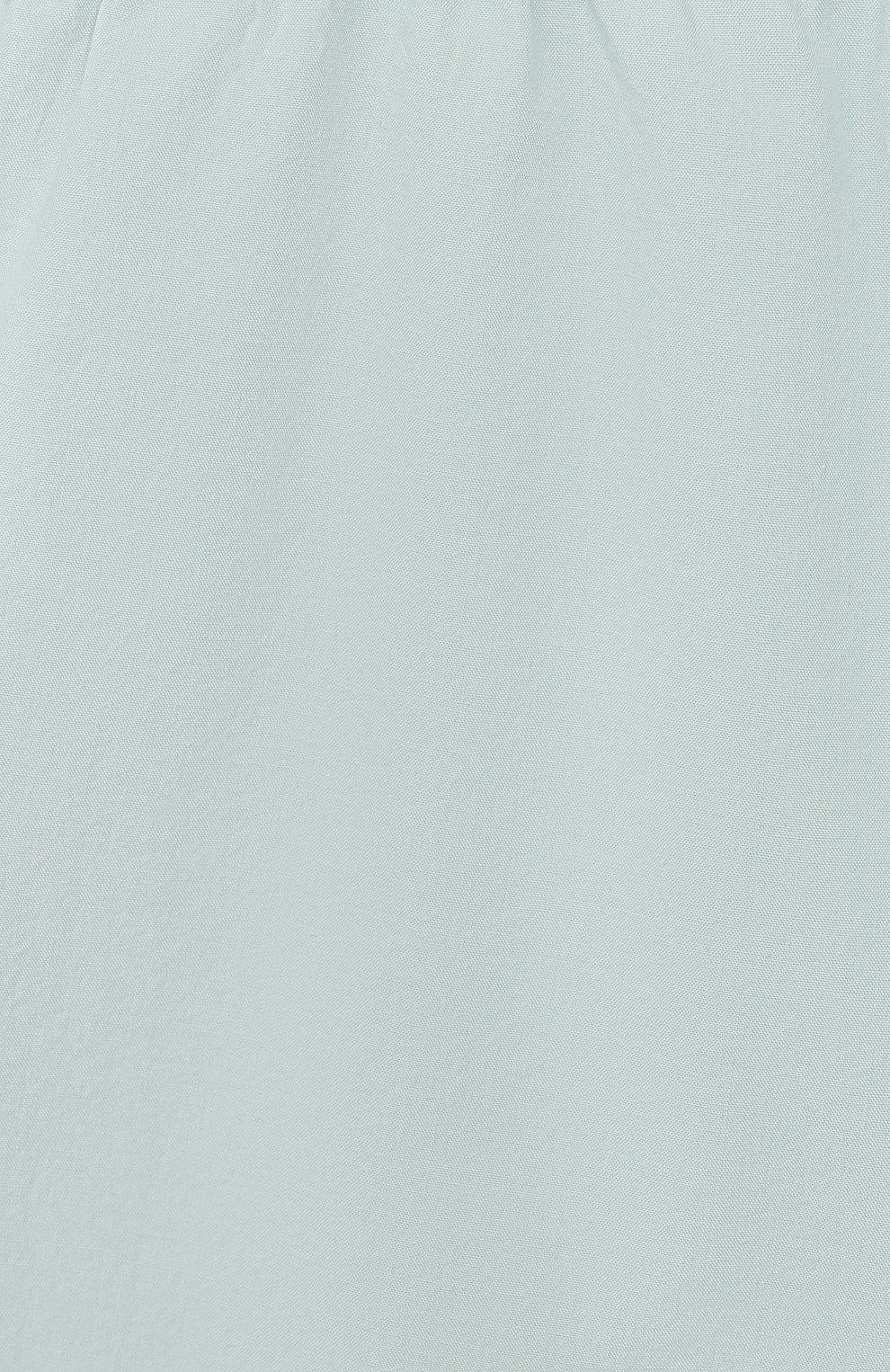 Детские хлопковые брюки BONPOINT бирюзового цвета, арт. S01ZPAWO0301(041C)_842975 | Фото 3 (Материал внешний: Хлопок; Ростовка одежда: 9 мес | 74 см)