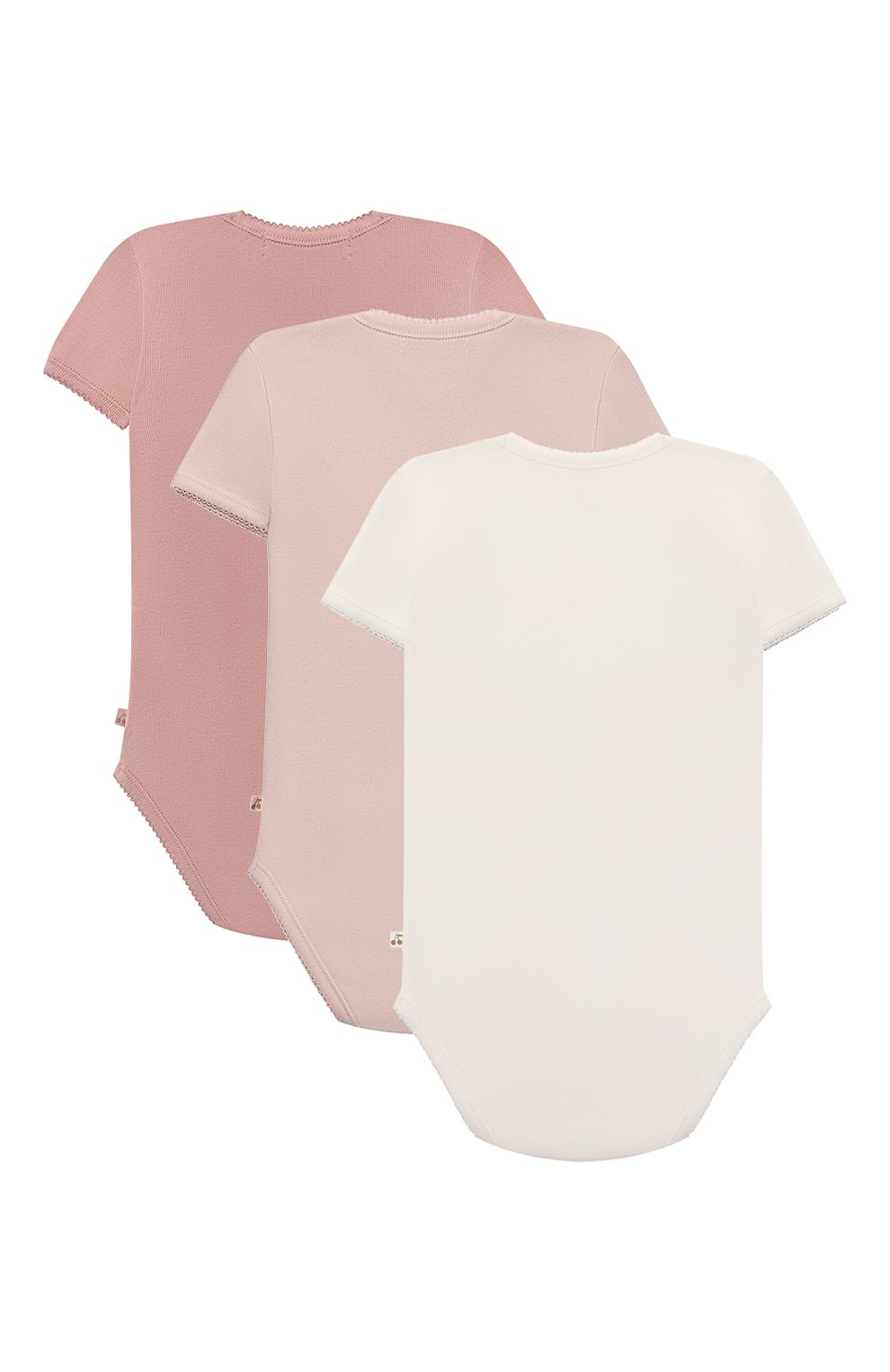 Детского комплект из трех боди BONPOINT разноцветного цвета, арт. PEBTIBODYS3(121)_824309 | Фото 2 (Материал внешний: Хлопок; Ростовка одежда: 12 мес | 80 см)