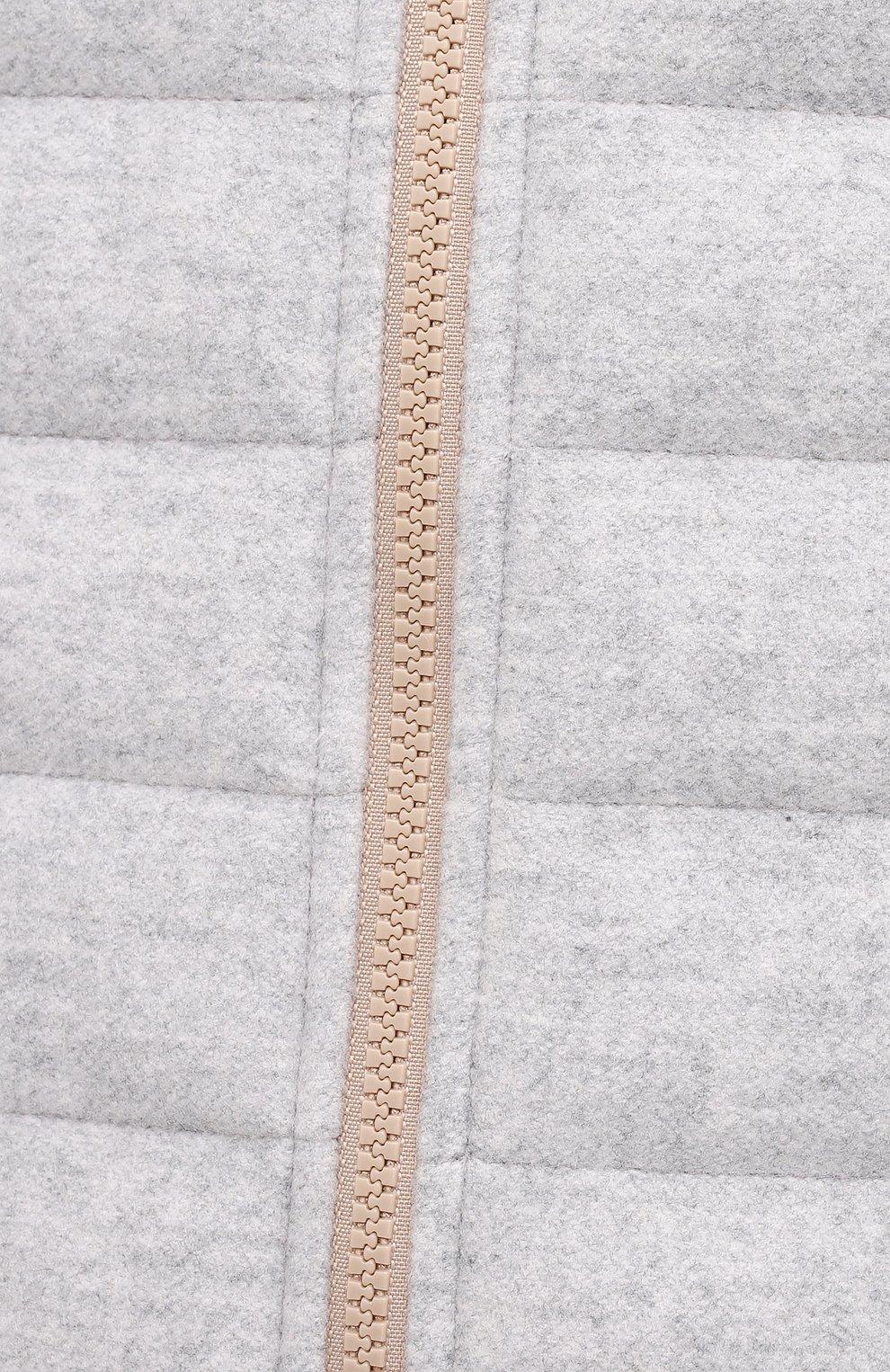 Мужской двусторонний жилет BRUNELLO CUCINELLI светло-серого цвета, арт. MT4971830 | Фото 5