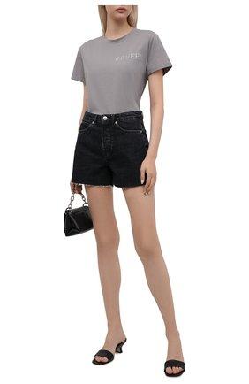 Женская хлопковая футболка SEVEN LAB серого цвета, арт. T20-#q CR grey   Фото 2