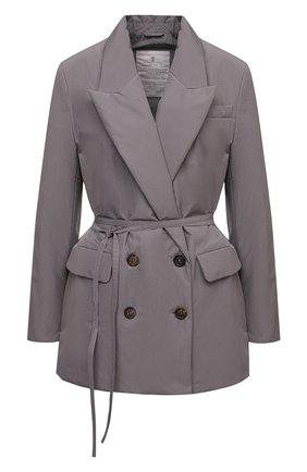 Женская пуховая куртка BRUNELLO CUCINELLI серого цвета, арт. MB5742175P | Фото 1 (Материал внешний: Синтетический материал, Хлопок; Длина (верхняя одежда): Короткие; Стили: Кэжуэл; Материал подклада: Синтетический материал; Кросс-КТ: Куртка; Рукава: Длинные; Женское Кросс-КТ: Пуховик-куртка)