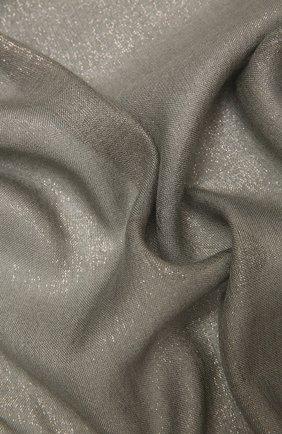 Женский шарф из смеси кашемира и шелка BRUNELLO CUCINELLI серого цвета, арт. MSCDAR097P | Фото 2