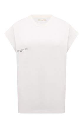 Женская хлопковая футболка PANGAIA молочного цвета, арт. 20JTU02-111-JM0S01   Фото 1