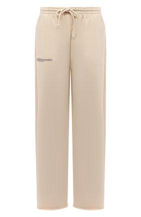 Женские хлопковые брюки PANGAIA бежевого цвета, арт. 20FPU02-031-FEM001   Фото 1