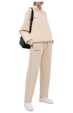 Женские хлопковые брюки PANGAIA бежевого цвета, арт. 20FPU02-031-FEM001   Фото 2