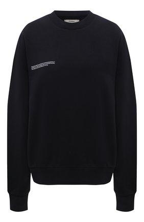 Женский хлопковый свитшот PANGAIA черного цвета, арт. 20FCU01-001-FEM001   Фото 1