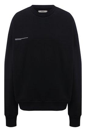 Женский хлопковый свитшот PANGAIA черного цвета, арт. 20FCU01-001-FE0R02   Фото 1