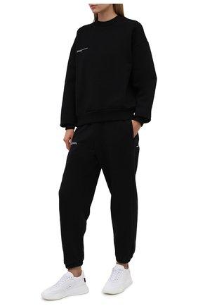 Женский хлопковый свитшот PANGAIA черного цвета, арт. 20FCU01-001-FE0R02   Фото 2