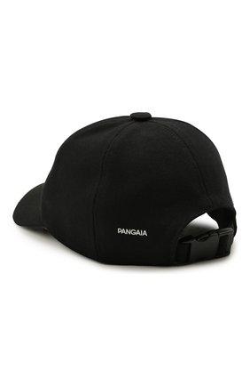 Женская хлопковая бейсболка PANGAIA черного цвета, арт. CA0003-001-CI001   Фото 2