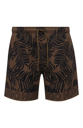 Мужские плавки-шорты HUGO хаки цвета, арт. 50453853 | Фото 1