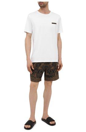 Мужские плавки-шорты HUGO хаки цвета, арт. 50453853 | Фото 2