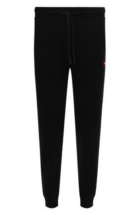 Мужские хлопковые джоггеры HUGO черного цвета, арт. 50448389 | Фото 1 (Материал внешний: Хлопок; Силуэт М (брюки): Джоггеры; Длина (брюки, джинсы): Стандартные; Мужское Кросс-КТ: Брюки-трикотаж; Кросс-КТ: Спорт; Стили: Спорт-шик)