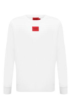 Мужской хлопковый свитшот HUGO белого цвета, арт. 50447964 | Фото 1