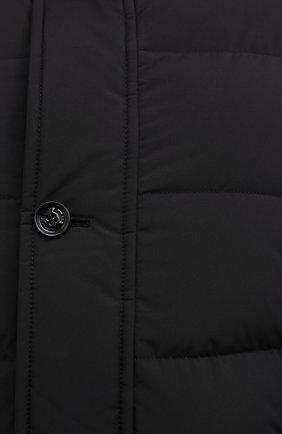 Мужская пуховик с меховой отделкой saturno-stp MOORER черного цвета, арт. SATURN0-STP/M0UGI100271-TEPA023 | Фото 5 (Кросс-КТ: Куртка, Пуховик; Мужское Кросс-КТ: пуховик-короткий; Рукава: Длинные; Длина (верхняя одежда): До середины бедра; Материал внешний: Синтетический материал; Стили: Классический, Кэжуэл; Материал подклада: Синтетический материал; Материал утеплителя: Пух и перо)