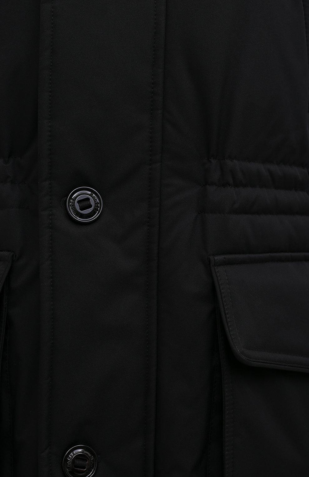Мужская пуховик с меховой отделкой helsinky-ads MOORER черного цвета, арт. HELSINKY-ADS/M0UPA100019-TEPA011/60-68 | Фото 5 (Кросс-КТ: Куртка, Пуховик; Big sizes: Big Sizes; Мужское Кросс-КТ: пуховик-длинный; Рукава: Длинные; Длина (верхняя одежда): До колена; Материал внешний: Синтетический материал; Стили: Классический, Кэжуэл; Материал подклада: Синтетический материал; Материал утеплителя: Пух и перо)