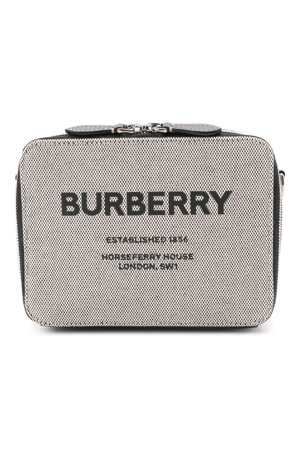 Мужская сумка BURBERRY серого цвета, арт. 8038258   Фото 1