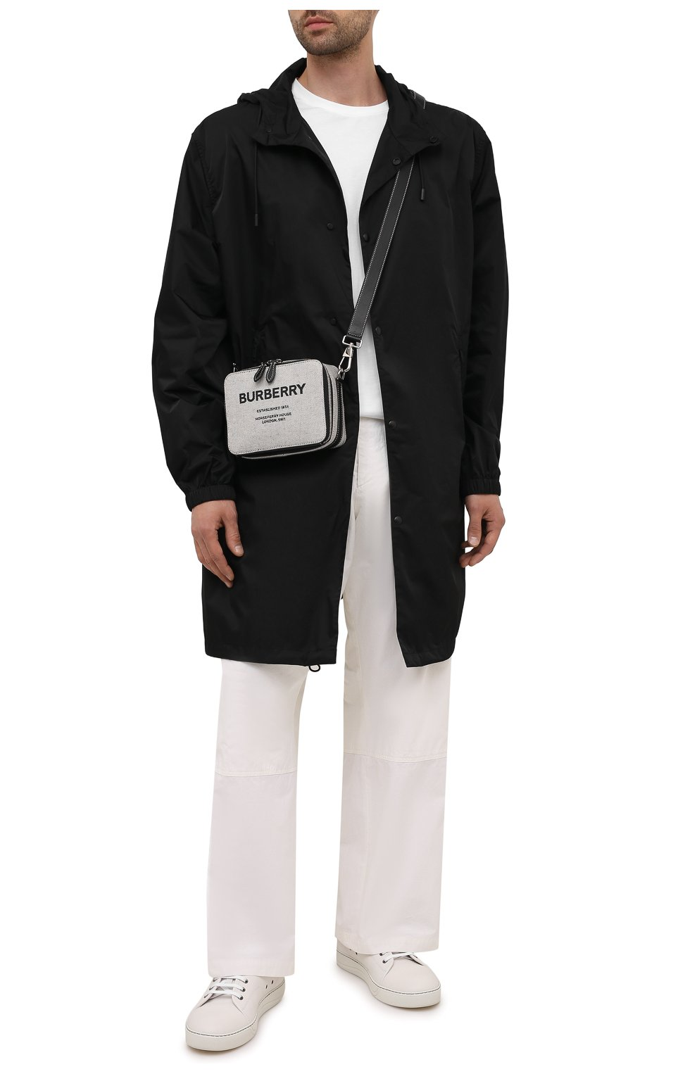 Мужская сумка BURBERRY серого цвета, арт. 8038258   Фото 2