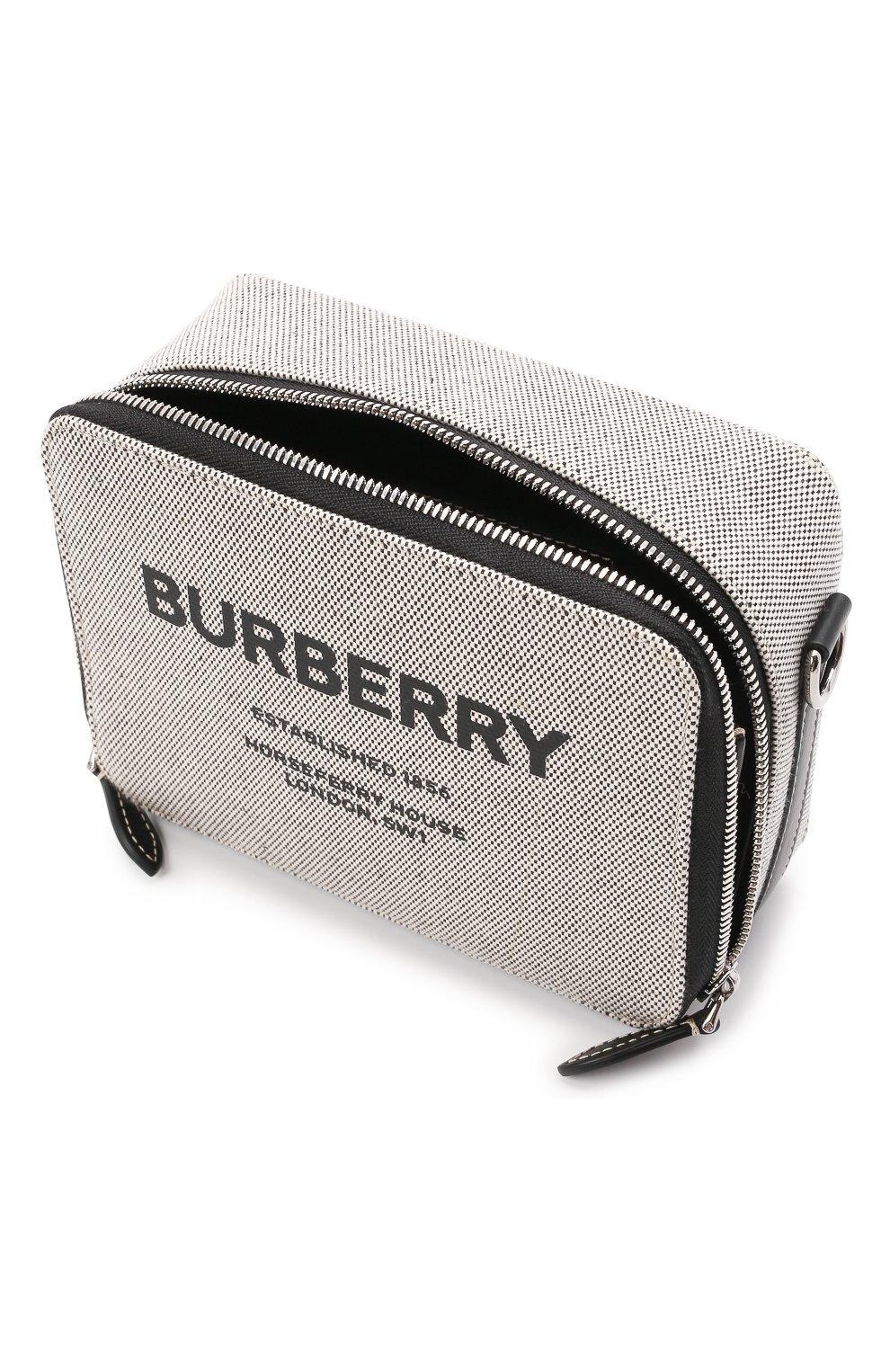 Мужская сумка BURBERRY серого цвета, арт. 8038258   Фото 4