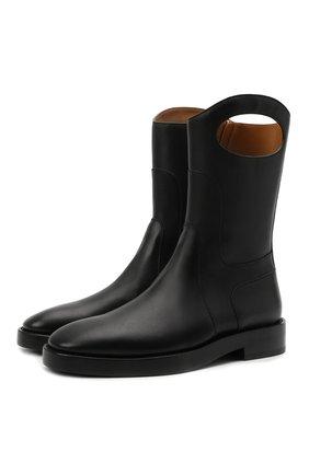 Мужские кожаные сапоги BURBERRY черного цвета, арт. 8039055 | Фото 1