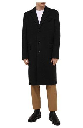 Мужские кожаные сапоги BURBERRY черного цвета, арт. 8039055 | Фото 2