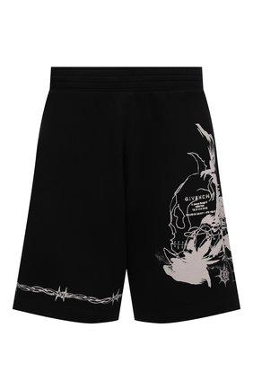 Мужские хлопковые шорты GIVENCHY черного цвета, арт. BM50WT3Y6U | Фото 1