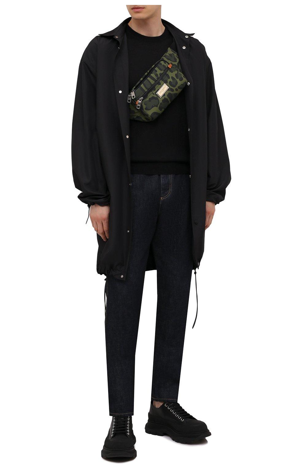 Мужская текстильная поясная сумка nero sicilia dna DOLCE & GABBANA хаки цвета, арт. BM1967/A0885 | Фото 2