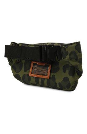 Мужская текстильная поясная сумка nero sicilia dna DOLCE & GABBANA хаки цвета, арт. BM1967/A0885 | Фото 3