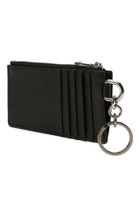 Мужской кожаный футляр для кредитных карт DOLCE & GABBANA черного цвета, арт. BP2524/AZ602 | Фото 2