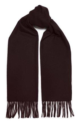 Мужской шерстяной шарф KITON бордового цвета, арт. USCIACX0296A | Фото 1
