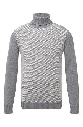 Мужской кашемировый свитер KITON серого цвета, арт. UMK0070 | Фото 1