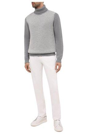 Мужской кашемировый свитер KITON серого цвета, арт. UMK0070 | Фото 2
