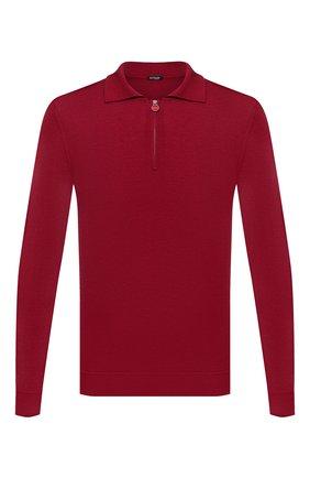 Мужское поло из кашемира и шелка KITON красного цвета, арт. UK05Z | Фото 1