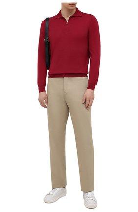 Мужское поло из кашемира и шелка KITON красного цвета, арт. UK05Z | Фото 2