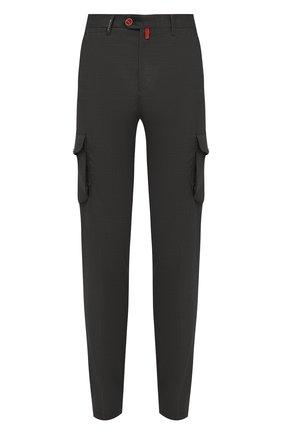 Мужские кашемировые брюки-карго KITON темно-зеленого цвета, арт. UFPPCAJ0325A | Фото 1