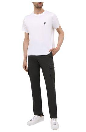 Мужские кашемировые брюки-карго KITON темно-зеленого цвета, арт. UFPPCAJ0325A | Фото 2