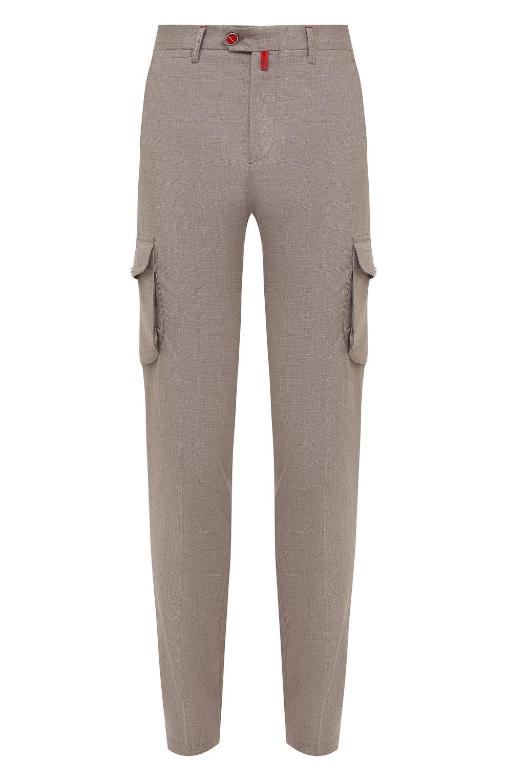 Мужские кашемировые брюки-карго KITON бежевого цвета, арт. UFPPCAJ0325A   Фото 1
