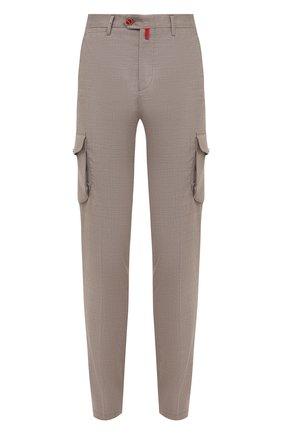 Мужские кашемировые брюки-карго KITON бежевого цвета, арт. UFPPCAJ0325A | Фото 1
