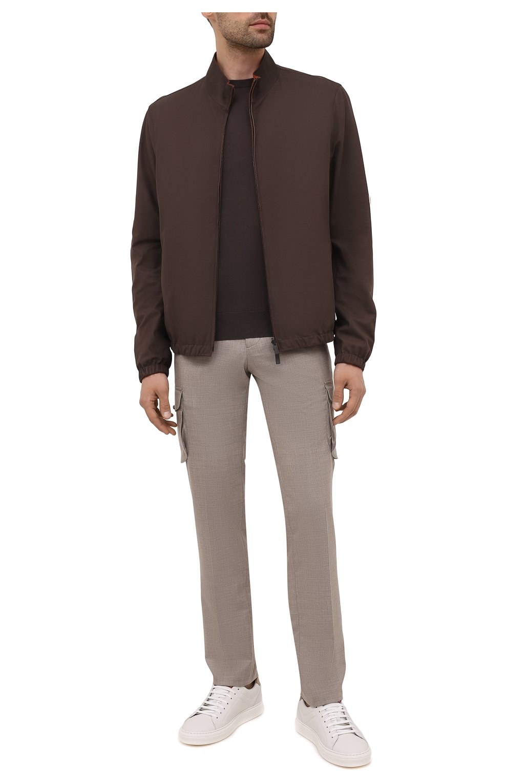 Мужские кашемировые брюки-карго KITON бежевого цвета, арт. UFPPCAJ0325A   Фото 2